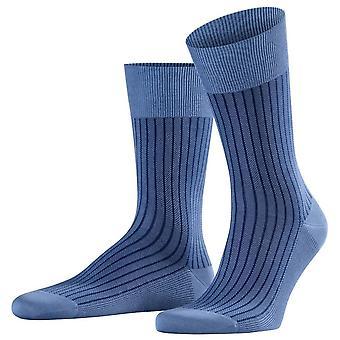 Falke Oxford Stripe-sukat-Himmeänsininen