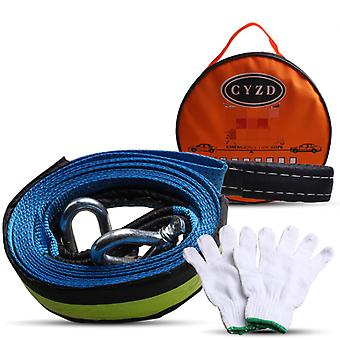 Car Tow Rope Trailer Belt Automotive 4 m 8 Tons Tow Strap