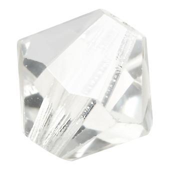 Preciosa tjekkisk krystal, Bicone Perle 4mm, 36 stykker, Krystal