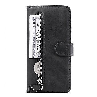 For Moto G8 Power Lite Zipper Wallet Pu Leather Case For Motorola Moto G8 Power Lite Flip Cover Case For G8 Power Lite Phone Case