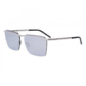 Saint Laurent Sl243 005 60 New Wave Silver Spejlet Solbriller