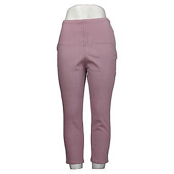 Belle av Kim Gravel Kvinners Bukser Hollywood Midje Crop Purple A373936