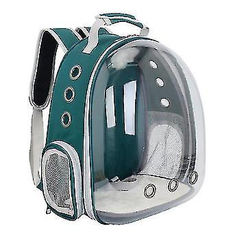 Cat Carrier Rucsac, Space Capsule Knapsack Pet Travel Bag impermeabil respirabil (fluorescente verde)