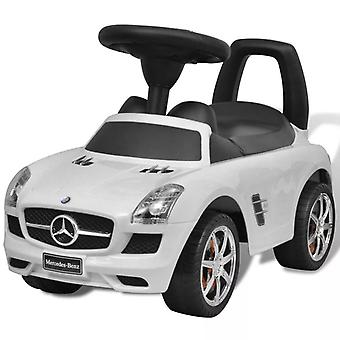 Mercedes Benz Foot-Powered Kids Car White Toddler Vehicle with Sounds
