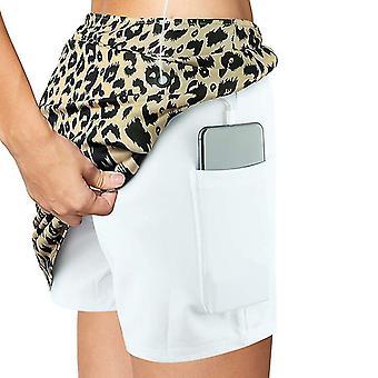 Åndbare trykte nederdele med shorts og indvendige lommer