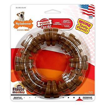 Nylabone Dura Chew Textured Ring - Flavor Medley - 1 Chew - Dogs over 50 lbs