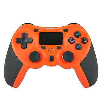בקר משחק אלחוטי כרונוס, לוח משחק אלחוטי תואם לפלייסטיישן 4/פלייסטיישן 3/PC לוח מגע Joypad (כתום)