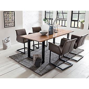Tomasso's Piacenza Dining Table - Modern - Natural - Acacia - 0 cm x 0 cm x 0 cm