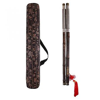 Chinese Flute Bau Chinese Bau Bamboo Flute G-key Double Pipe Professional Craft Musical Instrument