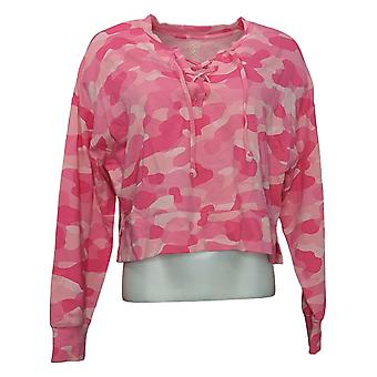 WVVY by Fitty Britttty Women's Sweater Lace-Up Sweatshirt Pink 729801