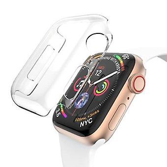 Apple Watch Series 5 és 4 44mm teljes lefedettség PC tok (átlátszó)