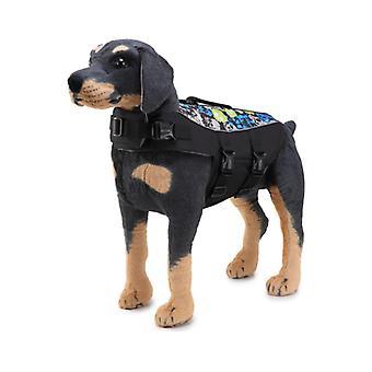 Mimigo Dog Life Jacket Pet Floatation Vest Dog Lifesaver Dog Life Preserver For Water Safety At The Pool, Beach, Boating Black Skull