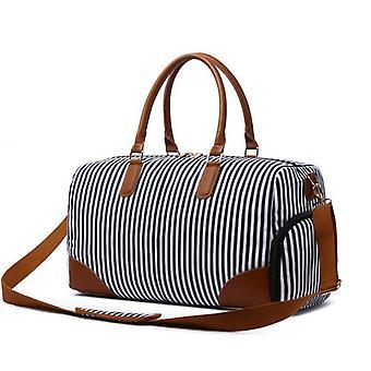 Striped Handbag Travel Bag Large-capacity One-shoulder Luggage Bag