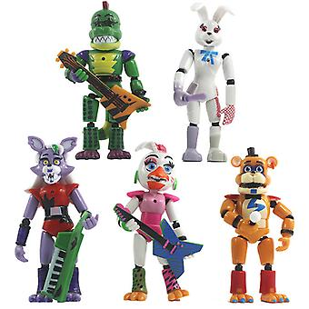 The 5.5-inch Teddy Bears Midnight And Five Nights Are Illuminated In Freddys Security Breach And The Doll Can Be Moved 5
