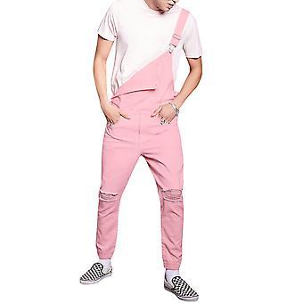 Pánske's Plain roztrhané neformálne džínsové kombinézy kombinézy nohavice