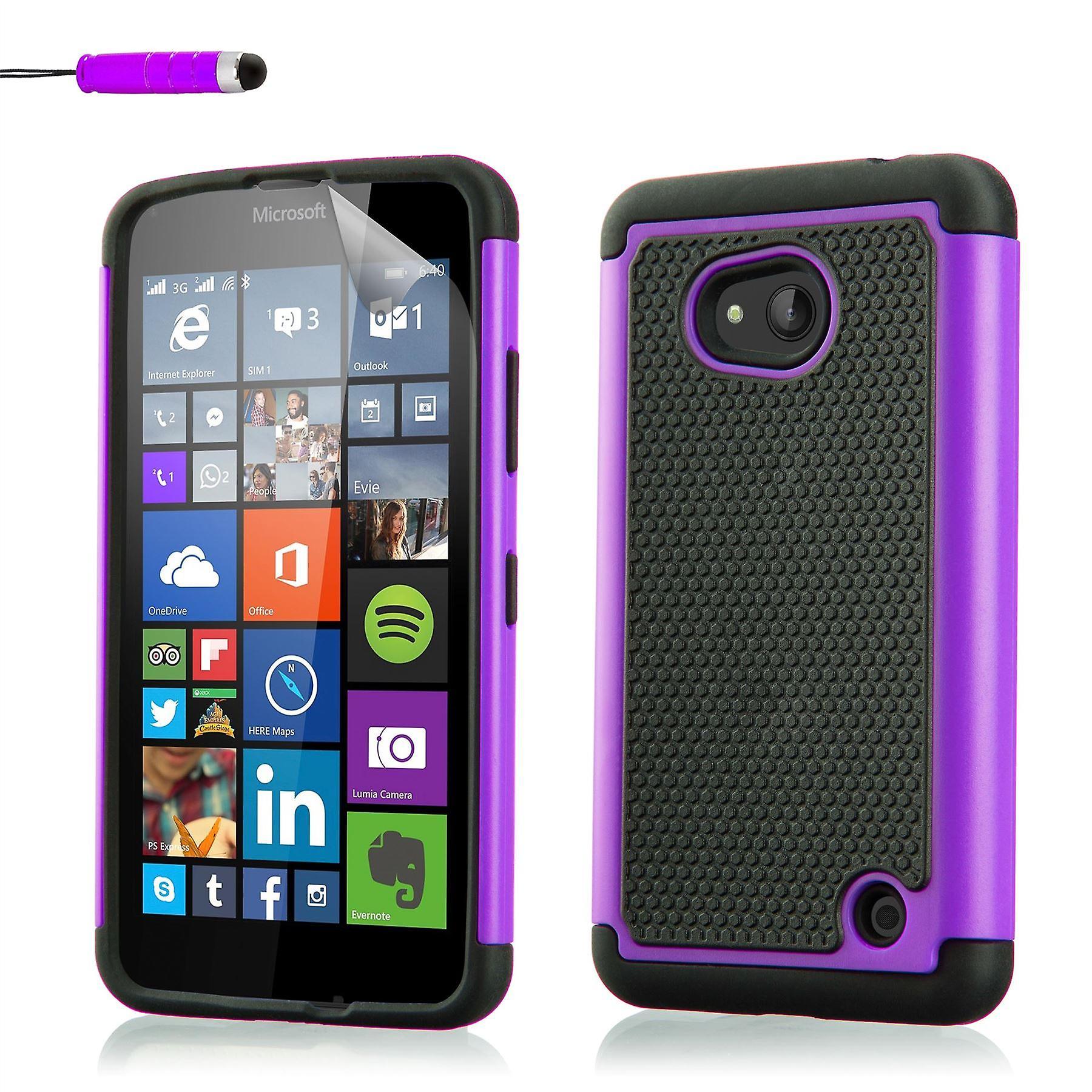 Shock proof case for Microsoft Lumia 640 (Discontinued) + stylus - Purple