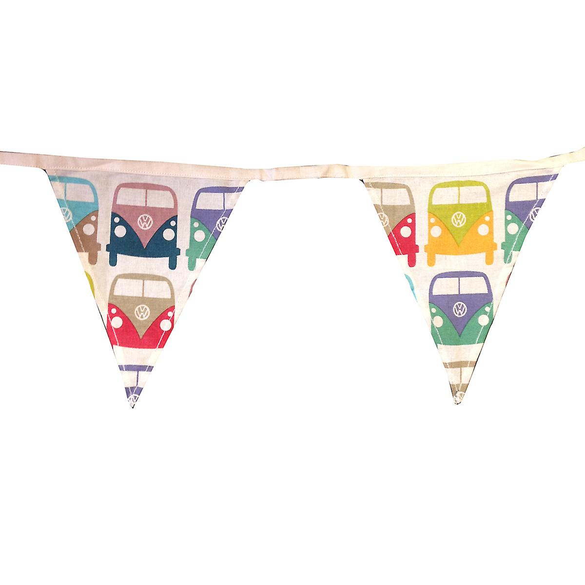 Official VW Camper Van Cotton Fabric Bunting - Montage