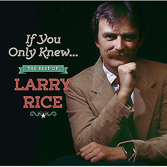 Larry Rice - If You Only Knew: The Best of Larry Rice [CD] USA import