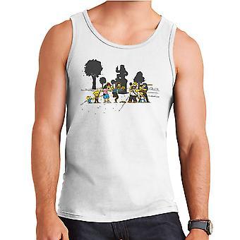 Yellow Fever the Simpsons Walking Dead Men's Vest