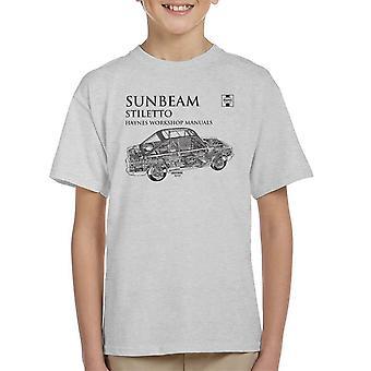 Haynes Workshop Manual 0022 Sunbeam Stiletto Black Kid's T-Shirt