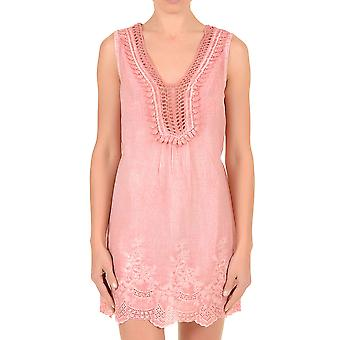 Iconique IC7-071 Women's Pink Cotton Beach Dress
