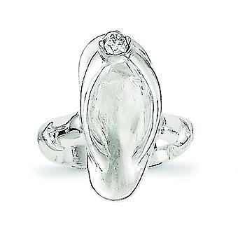 925 Sterling Silber solide Sandale CZ Zirkonia simuliert Diamant Zehen ring Schmuck Geschenke für Frauen