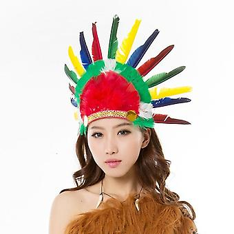 Adult Wild West Indian Head Dress Headband Costume Fancy Dress