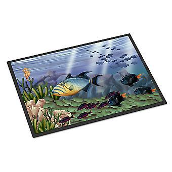 キャロラインズ宝物 PTW2035MAT 海底ファンタジー 10 屋内または屋外マット 18 x 27