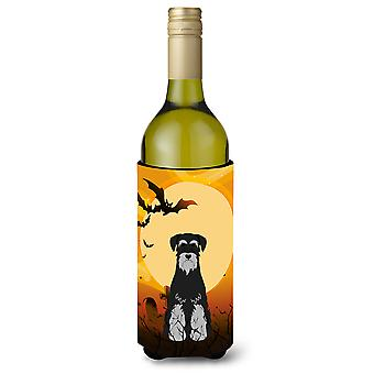 Halloween Standard Schnauzer Black Grey Wine Bottle Beverge Insulator Hugger