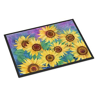 Sunflowers and Purple Indoor or Outdoor Mat 24x36