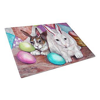 Conejo de Pascua amigos Buddy vidrio tabla de cortar grande
