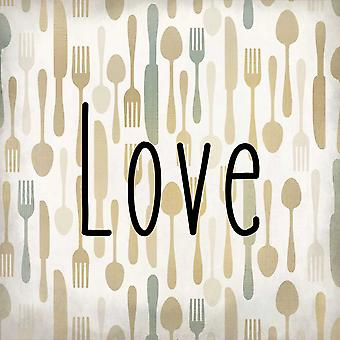 Eat Pray Love 3 Poster Print by Kimberly Allen