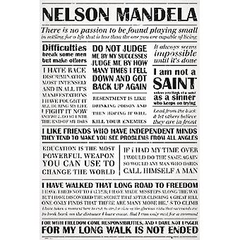 Nelson Mandela Quotes Poster Poster Print