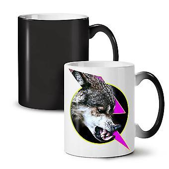 Free Animal Wolf Angry NEW Black Colour Changing Tea Coffee Ceramic Mug 11 oz | Wellcoda