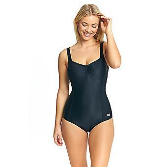 Mittelerweile Frauen Ella Scoopback Swimsuit schwarz chlorresistente w / herausnehmbare Cups