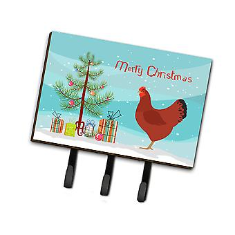 New Hampshire Red Chicken Christmas Leash or Key Holder