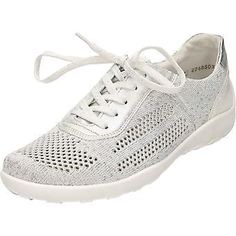 Remonte Lace Up Cut Out pompes argent chaussures R3503-80