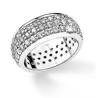 s.Oliver jewel ladies ring silver cubic zirconia white size 52 SO573 - 9780464