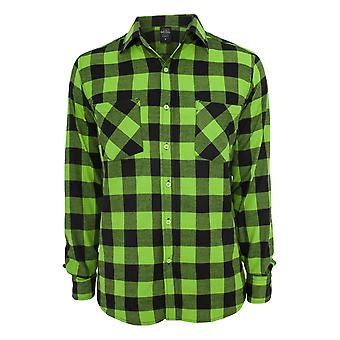 Urban classics checked flannel shirt