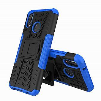 Für Huawei P20 Lite Hybrid Case 2teilig Outdoor Blau Etui Tasche Hülle Cover Schutz