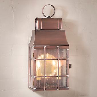 Irvin's Country Tinware Washington Wall Lantern in Antique Copper