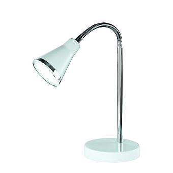 Trio Lighting Arras Modern White Plastic Table Lamp