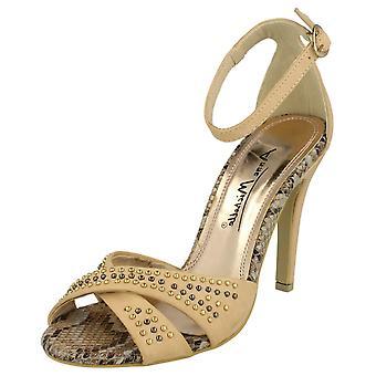 Ladies cinturino alla caviglia di Michelle Anne tacco sandali L3391