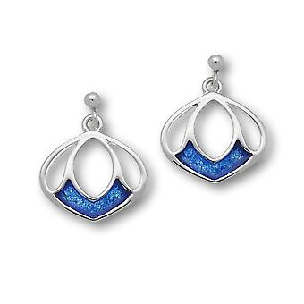 Sterling Silver Traditional Contemporary Modern Arctic Design Pair of Earrings - Oasis