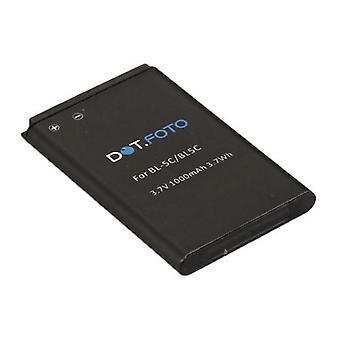 Batería de reemplazo de Nokia BL - 5C Dot.Foto - 3.7v / 1000mAh [ver Descripción de compatibilidad]