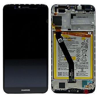 Huawei vise LCD enhet + 2018 Service Pack 02351WLJ svart ramme for Y6 nye
