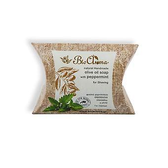 Håndlaget olivenolje såpe for barbering - Mint 90gr