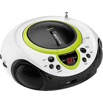 Lenco SCD-38 USB-FM Radio/CD AUX, CD, FM, USB-groen