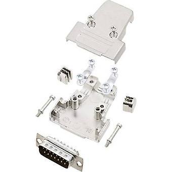 encitech TRI-M-15-DBP-K 6355-0038-02 D-SUB pin strip set 180 ° Number of pins: 15 Solder bucket 1 Set