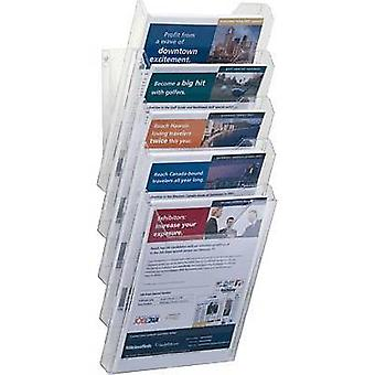 Kestävä COMBIBOXX A4 SET XL-8586 858619 esite pidike läpinäkyvä A4-nro osastojen 5 1 kpl (l x k x s) 242 x 580 x 155 mm